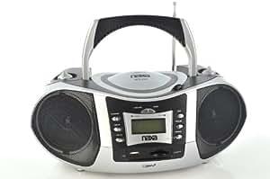 Naxa NPB-250 Portable MP3/CD Player with Text Display, AM/FM Stereo Radio, USB Input & SD/MMC Card Slot