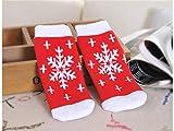 Gelaiken World Christmas 3 Pairs Children Cotton Socks Kids Autumn and Winter Christmas Terry Mid Tube Socks(Multicolor)