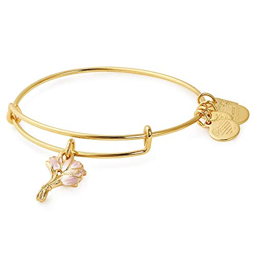 (Alex and Ani Women's Charity by Design Pink Tulips Bangle Shiny Gold One Size)