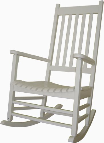 Custom Finished Solid ACACIA / TEAK PORCH ROCKER - *SEA MIST COLOR* PAINTED