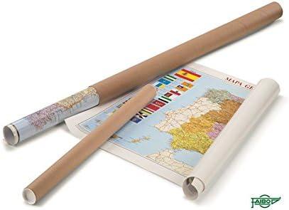 Faibo 153G - Mapa de España plastificado, sin marco: Amazon.es ...