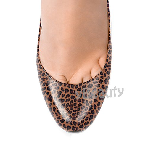 uBeauty Femmes Grande Aiguille Taille D Talon Stiletto Escarpins Léopard Rond Chaussures Bout rr16q
