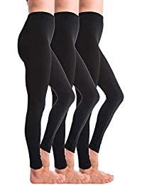 3-Pack Fleece Lined Thick Brushed Leggings Thights...