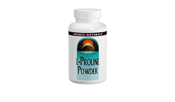Source Naturals L-Proline Powder, 4 Ounce: Amazon.es: Salud y cuidado personal