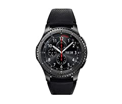 """The Gear S3 Frontier Dark Grey timeless smartwatch combines style with the latest innovation in digital technology and delivers it directly to your wrist with an always on display Watch face 1.3"""" super AMOLED full color display. Compatible wi..."""