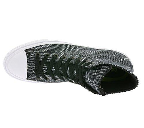 Converse Mandrin Taylor All Star Ii Tricot Salut Noir / Blanc / Marine Chaussures De Sport En Textile Hommes 9.5 Femmes 11.5