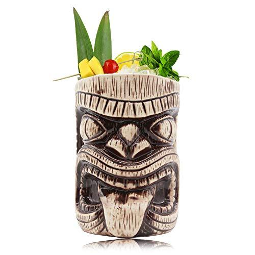 Tiki Mugs - Ceramic Toscano Lono Tiki Mug, 15oz / 450ml, Cocktail Mug for Mai Tai, Punch, Pina Colada, and Tropical bar Drinks (15oz / 450ml Toscano -