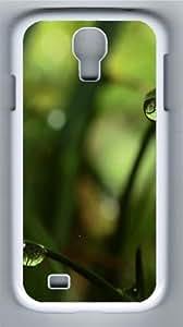 Close Up Grass Dew Custom Samsung Galaxy I9500/Samsung Galaxy S4 Case Cover Polycarbonate White wangjiang maoyi