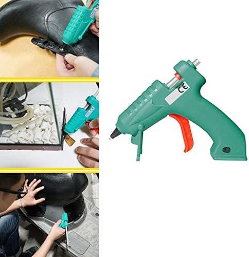 Xing zhe ホットメルト接着ガン、30純度の高い8Wミニグルーガン、高粘度の接着剤は、DIY小さなクラフトプロジェクト、シーリング&グリーンクイック修理のためスティック 贈り物 (Color : Green)