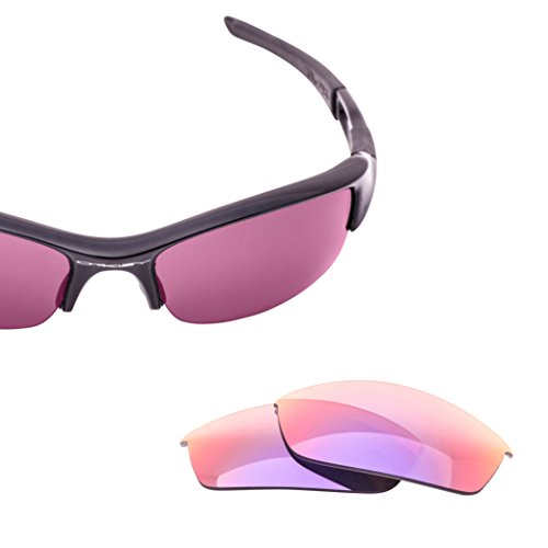 LenzFlip Replacement Lenses for Oakley FLAK Jacket - Gray Polarized with Pink Purple Mirror - Oakley Lenses Replace