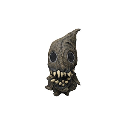 Fanged Sack Monster Scary Scarecrow Latex Halloween Horror Head And Neck -