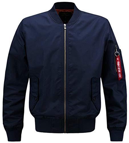 De De Chaqueta Vuelo Chaqueta De Clásico Ligero para Ma1 De Acolchado Bombardero Hombres Blau N1 Chaqueta Piloto Bombardero para Bombardero Hombre De EwOq7