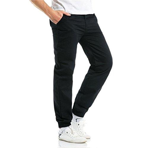 Festivo Puro Di Colore Pantaloni Primavera Da Moda Abbigliamento Lunghi Coulisse Casual Schwarz Estate Sportivi Uomo qzRpwBxRO