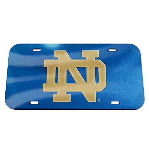 WinCraft NCAA Notre Dame Fighting Irish Crystal Mirror Logo ND License Plate, Team Color, One Size (Precision Ncaa Fighting Irish Cut)