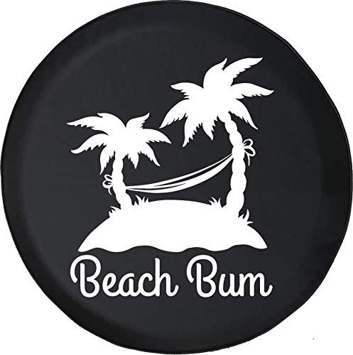 American Unlimited Spare Tire Cover Beach Bum Beach Island Palm Trees Fits Jeep JK Camper RV Size 32 Inch