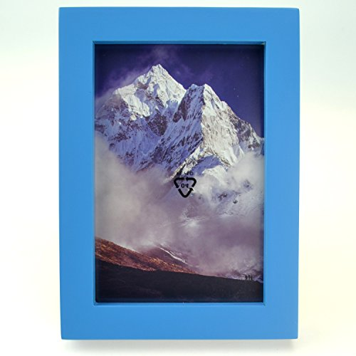 Star Quality 5x7 Inch Frame for 4x6 Inch Image   10 Colors Painted Available Photo Frame   100% Solid Wood Material   Hardware Included for Both Wall Hanging and Tabletop Display (5x7