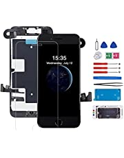 for iPhone 8/SE 2020 Screen Replacement with Home Button Full Assembly LCD and 3D Touch Screen Digitizer Replacement Frame with Front Camera+Ear Speaker+Sensors+Waterproof Seal+Screen Protector Repair Tools Kit