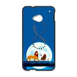 Lion King Forest Cartoon Black HTC M7 case
