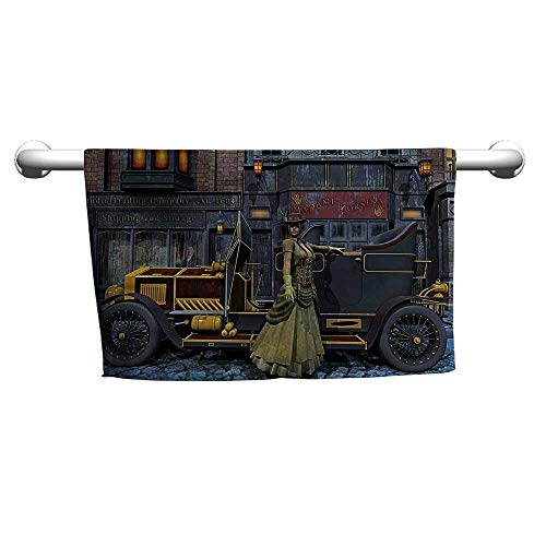 flybeek Style Towel Victorian,Vintage Victorian Lady,Chamois Towel for ()