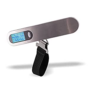 Luggage Scale, Digital & Portable for Easy Travel, By Trouvaille. Eliminate Overweight Baggage Fees with Easy to Read LCD Display, Backlight, Stainless Steel Top. Eliminate Costly Penalties!