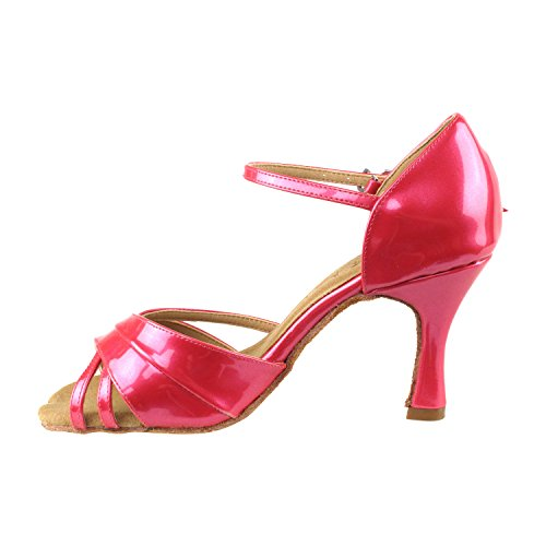 Salsa Party SERA3830 Pigeon Swing Pump Shoes Swing Comfort Fuchsia pearl Latin Ballroom Medium Dress Evening Salsa Latin Women Heel Gold Shoes Shoes 6030 Party Wedding Tango Tango Dance High IUqxUw