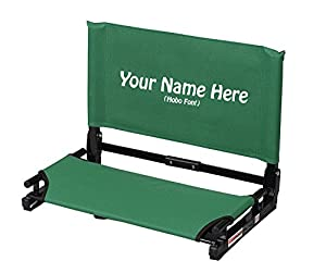 EMBROIDERED Personalized Deluxe Wide Stadium Chair Gamechanger Bleacher Seat with Optional Arms by Stadium Chair