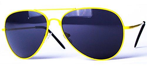 ressort 4027 Jaune Lunettes aviateur soleil de couleurs Noir modèle charnière à avec différentes pp0Cq