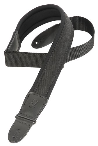 Levy's Leathers 2 1/2 Neoprene Padded Guitar Strap,Black