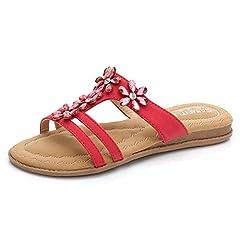 Women s Flower Open Toe Slide Sandal Comfort Summer Beach Sli . b44c1b4a12b4