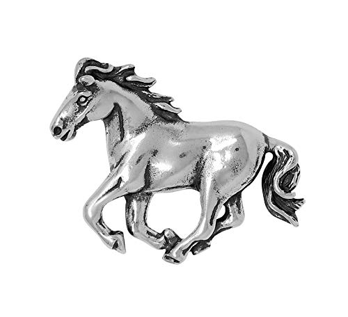 - Raposa Elegance Sterling Silver Running Horse Slide Pendant (approximately 21 mm x 27.5 mm)