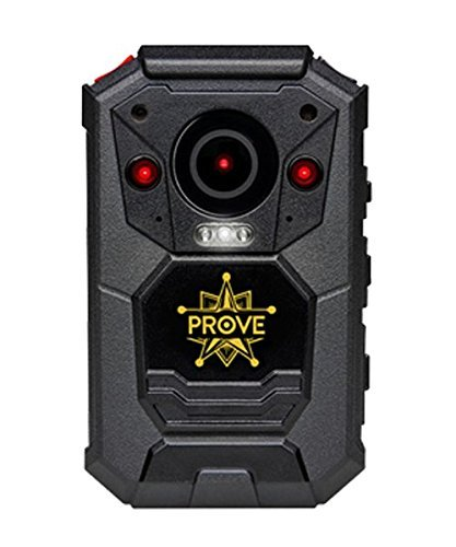 Prove Tech X-03 1296p HD Body Worn Camera, Built-in Storage Night Vision Waterproof Shockproof, For Police Officers Security Guards & Personal Use (16GB, Black) by ProveTech