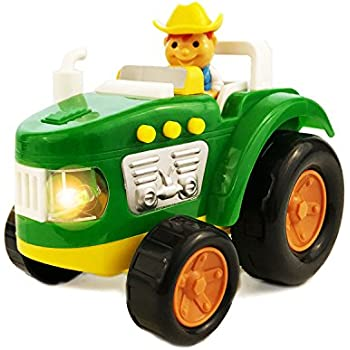 Boley Farm Tractor Toy with Lights and Sound - Educational toy for toddlers that seek pretend play