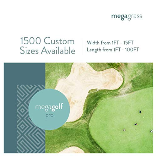 MEGAGRASS 2 x 79 Ft MegaGolf Pro Artificial Grass for Putting Green Golf Practice Mat - Indoor and Outdoor Synthetic Fake Grass for Golf Games Pet and Backyard Decor ()