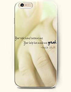 iPhone Case, WMShope iPhone 6 Plus (5.5) Hard Case **NEW** Case with the Design of your right hand sustains me your...