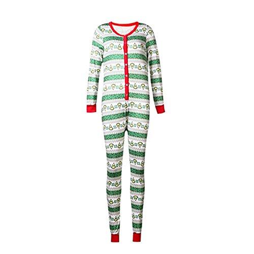 (Christmas Family Matching Pajamas Set Kids Adult Geometric Xmas PJs Romper Jumpsuit Sleepwear (Women,)