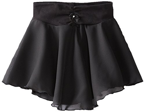 Eurotard Pull On Skirt - Capezio Little Girls' Pull-On Georgette Skirt, Black, Small