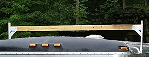 Enclosed Cargo Trailer (Aluminum Roof Rack PK28BR2 by Pack'em Racks - 2 piece bracket set (1 crossbar) - 2x4 Bracket Kit for Enclosed Trailers)