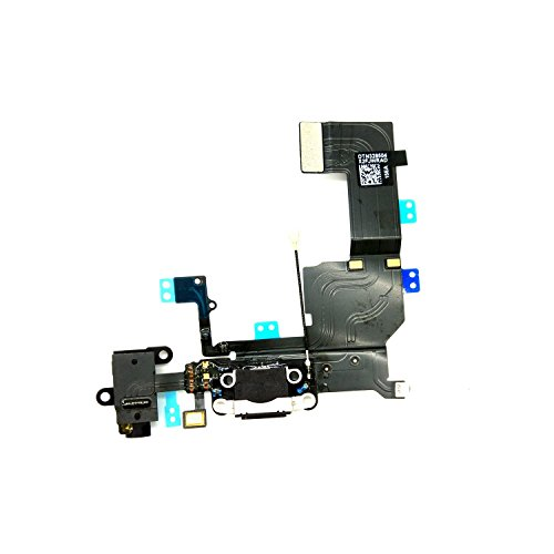 Headphone Jack Flex Cable - DonkeyEmma Brand New Charging Port Headphone Jack Flex Cable Replacement for iPhone 5C