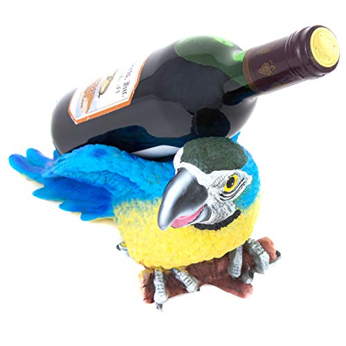 Globe Imports Decorative Parrot Wine Bottle Holder