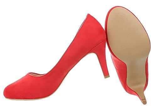 Damen Schuhe Pumps Klassische Rot