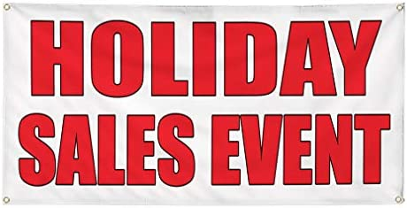 Amazon com : Vinyl Banner Sign Holiday Sale Event Auto Body