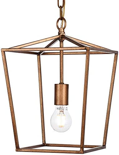14 in. 1-Light Pendant in Vintage Gold
