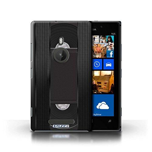 Kobalt® Imprimé Etui / Coque pour Nokia Lumia 925 / Cassette Vidéo VHS conception / Série Retro Tech