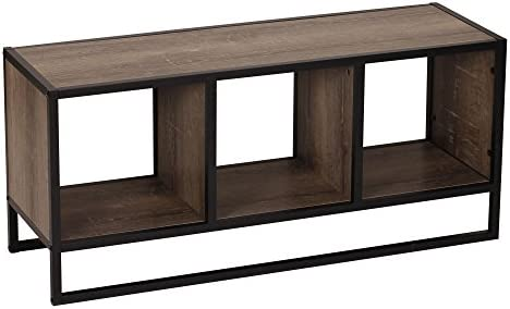 Household Essentials Ashwood Storage Shelf Coffee Table,