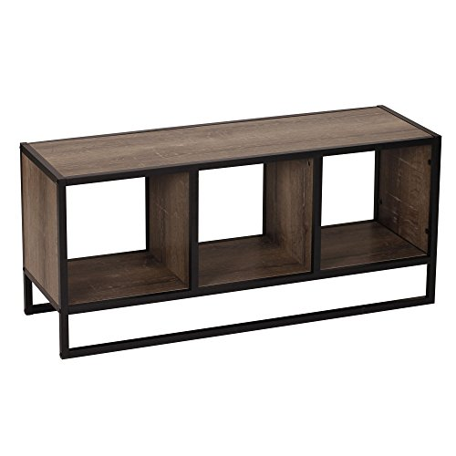 Household Essentials 8076-1 Ashwood Coffee Table | Entryway Table with Storage Shelf | Gray-Brown