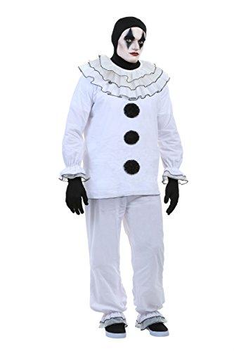 Men's Vintage Pierrot Clown Costume Large