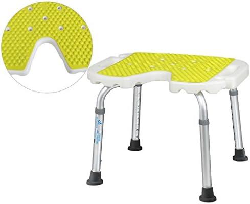Cqq Badestuhl Deluxe höhenverstellbarer Aluminium Bad/Duschstuhl mit Rücken- und Duschkopfhalterung (größe : A)