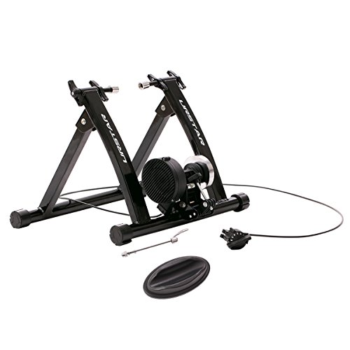 Cheap URSTAR Magnet Steel Bike Bicycle Indoor Exercise Trainer Stand Quick Release Skewer with Flywheel in Black