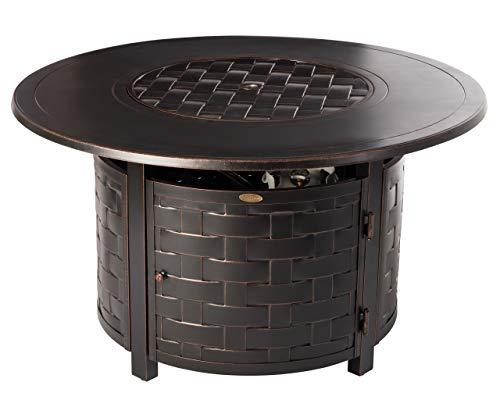 - Fire Sense 62208 Perissa Fire Pit Table, Bronze