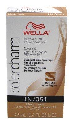 Wella Color Charm Liquid #051/1N Black (41ml) (3 Pack)